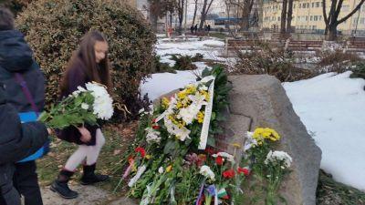 Поднасяне на цветя - НУ Васил Левски - Габрово